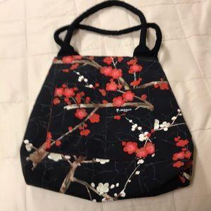Lined custom carryall cherry blossom design